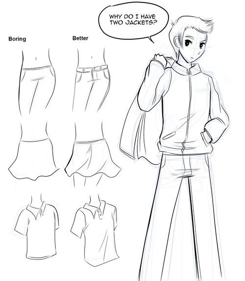 500x573 How To Draw Manga How To Draw Manga Clothes
