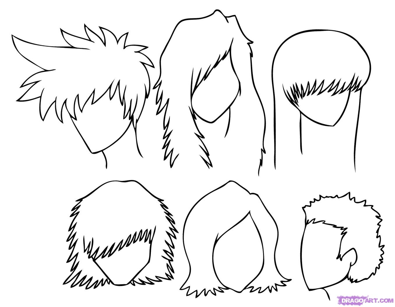 1356x1053 Japanese Cartoon Drawing Styles How To Draw Manga Hair, Step By
