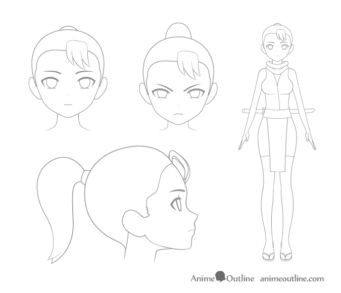 675x580 4 Important Steps To Draw A Manga Or Anime Character Anime Outline