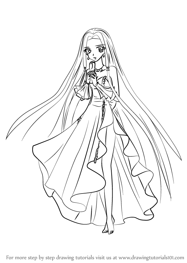 598x844 Learn How To Draw Sara From Mermaid Melody (Mermaid Melody) Step