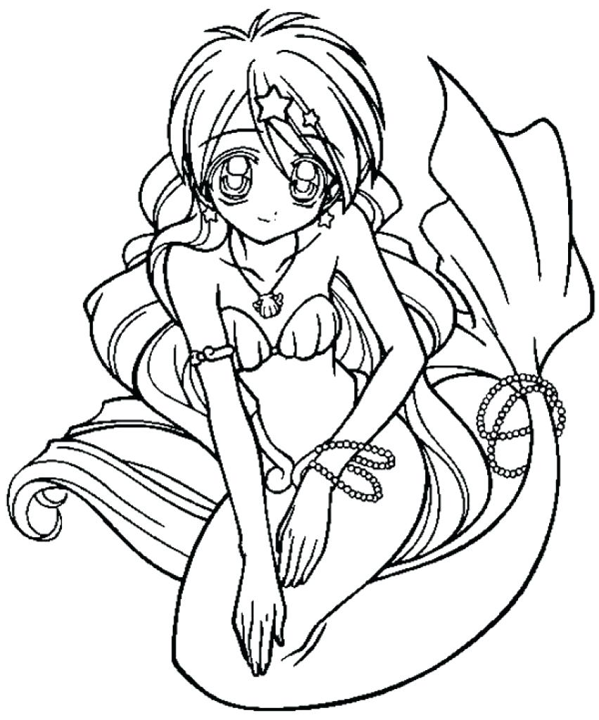 Anime Mermaid Drawing at GetDrawings.com | Free for personal use ...