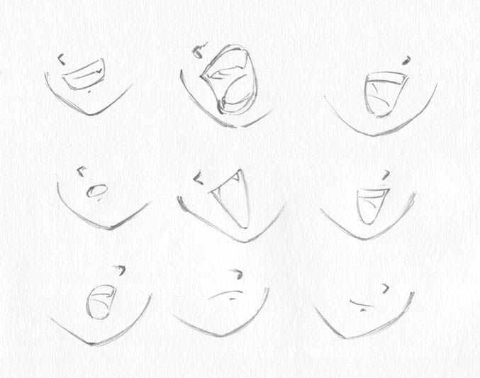 Anime Mouth Drawing