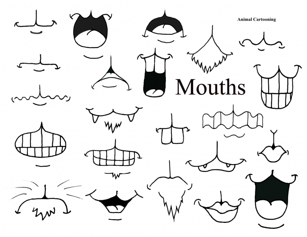 1024x791 Cartoon Mouth Drawing Anime Mouth Drawing Set Different Cartoon