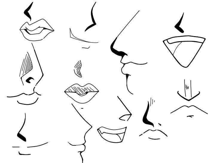 719x546 Anime Nose Sketches Danaspef.top Anime Manga, 1