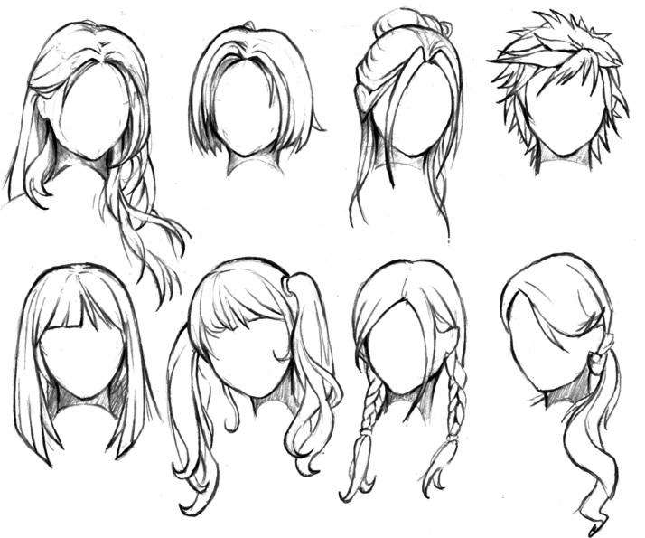 714x595 Pin By Natalie Roldan On Art Skills Anime Hair, Draw