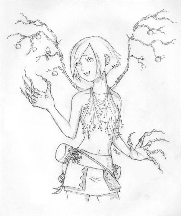 Anime Pencil Drawing