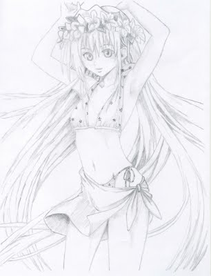 306x400 anime girl by pencil artist on deviantart