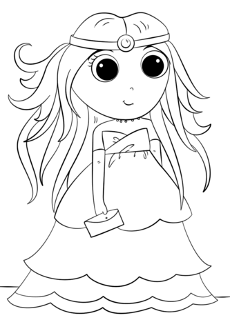 333x480 Anime Princess Coloring Page Free Printable Coloring Pages