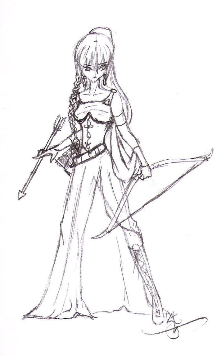 Anime Princess Drawing at GetDrawings