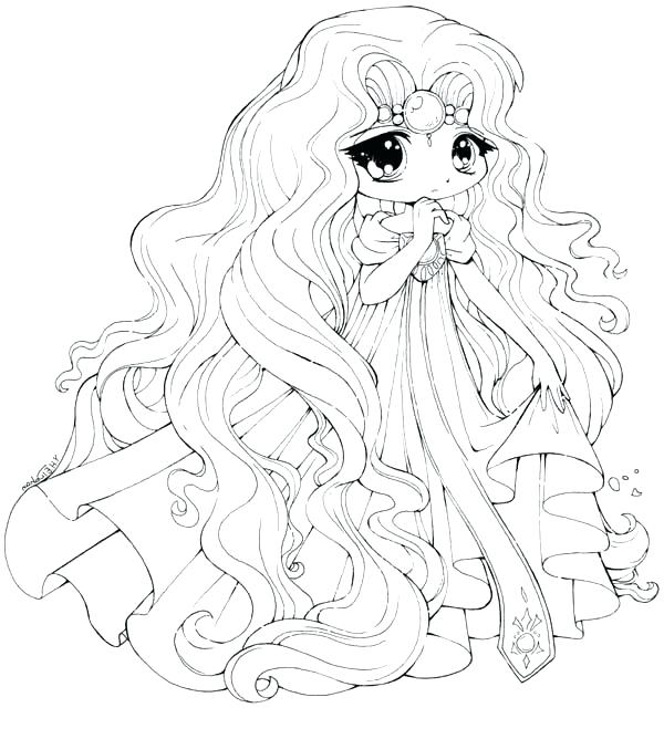 600x668 Anime Coloring Page Cute Coloring Pages Princess Draw Coloring