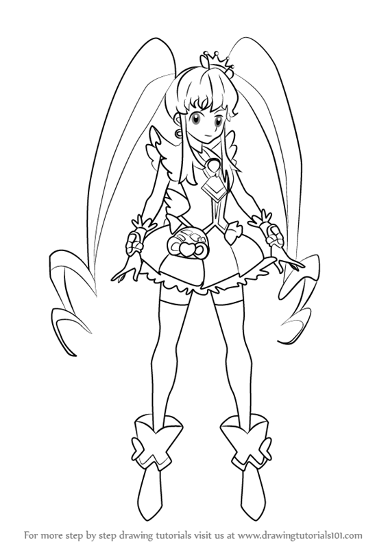 566x800 Learn How To Draw Cure Princess From Pretty Cure (Pretty Cure