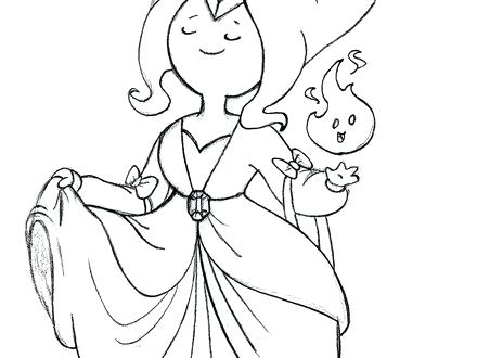 440x330 Anime Princess Coloring Pages Adventure Time Flame Princess Anime