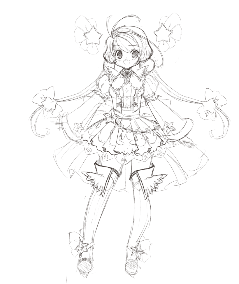 820x974 Star Princess Concept Sketch By Manouazumi