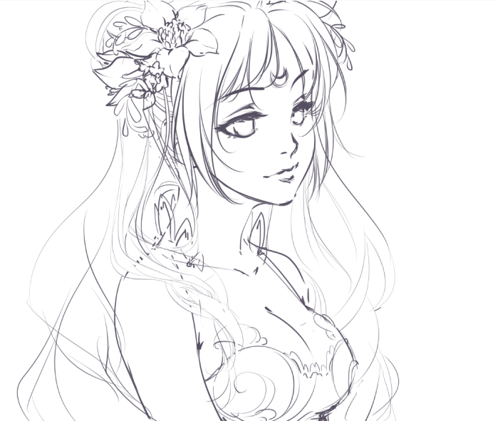 699x591 Wip Princess Serenity By Emily Fay Drawing