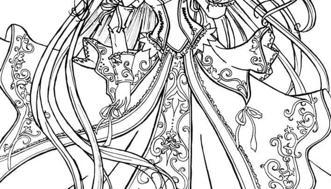 1060x608 Anime Princess Coloring Pages Timykids