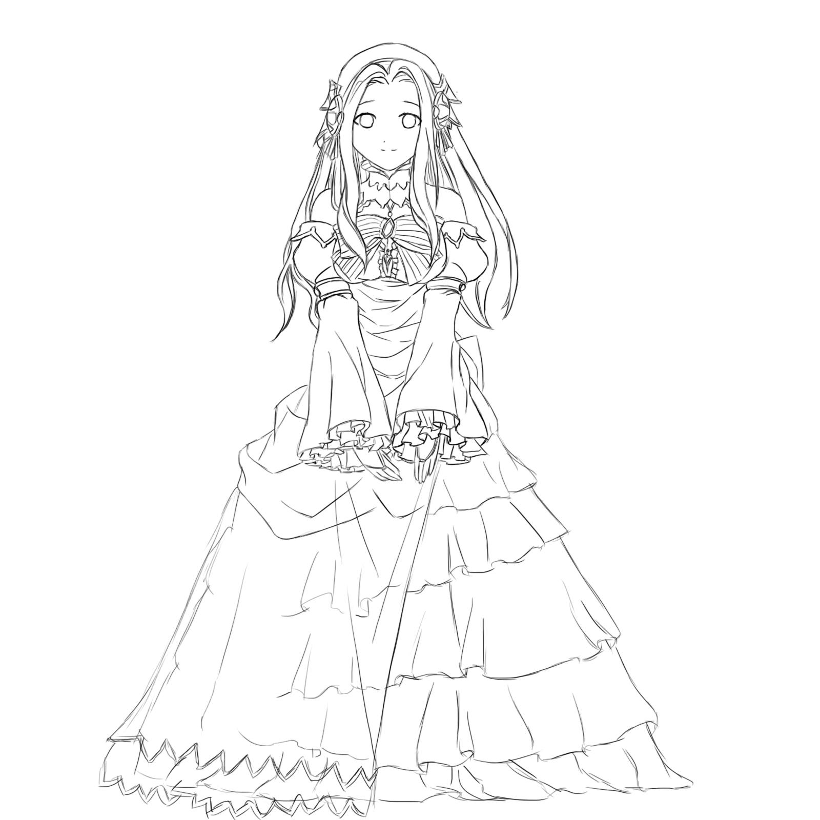 1600x1600 Anime Princess Drawing
