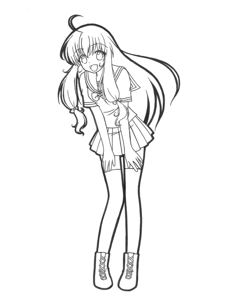 793x1007 Just Your Ordinary High School Girl! Lineart By Lunasteinberg