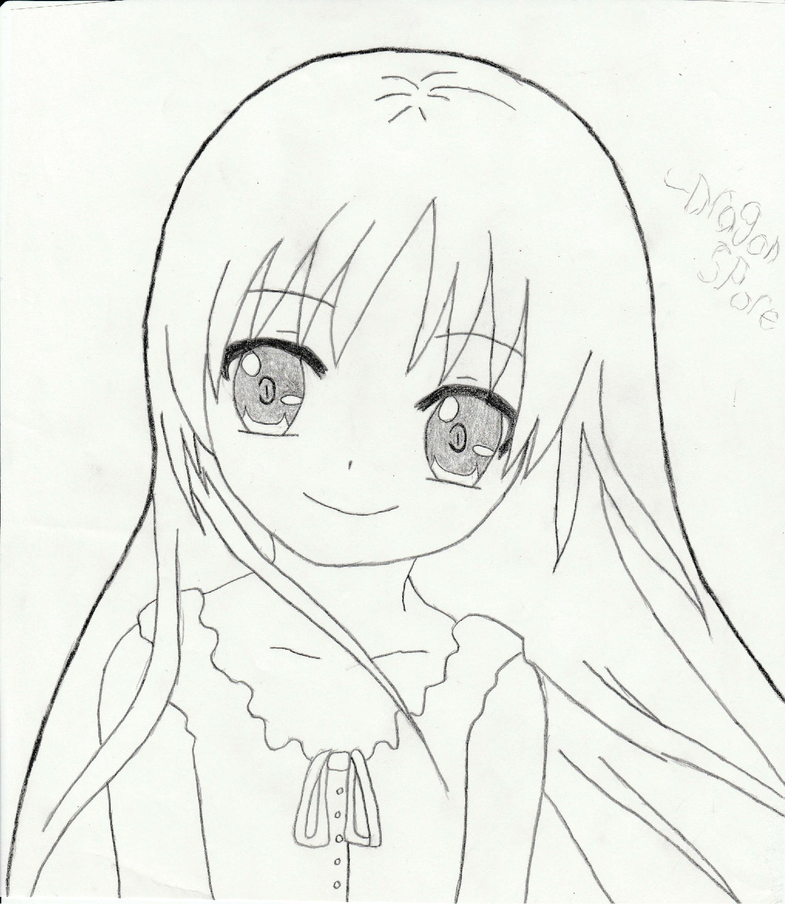 1526x1757 Simple Anime Girl Drawing Cute Anime Girlkiri Akuma