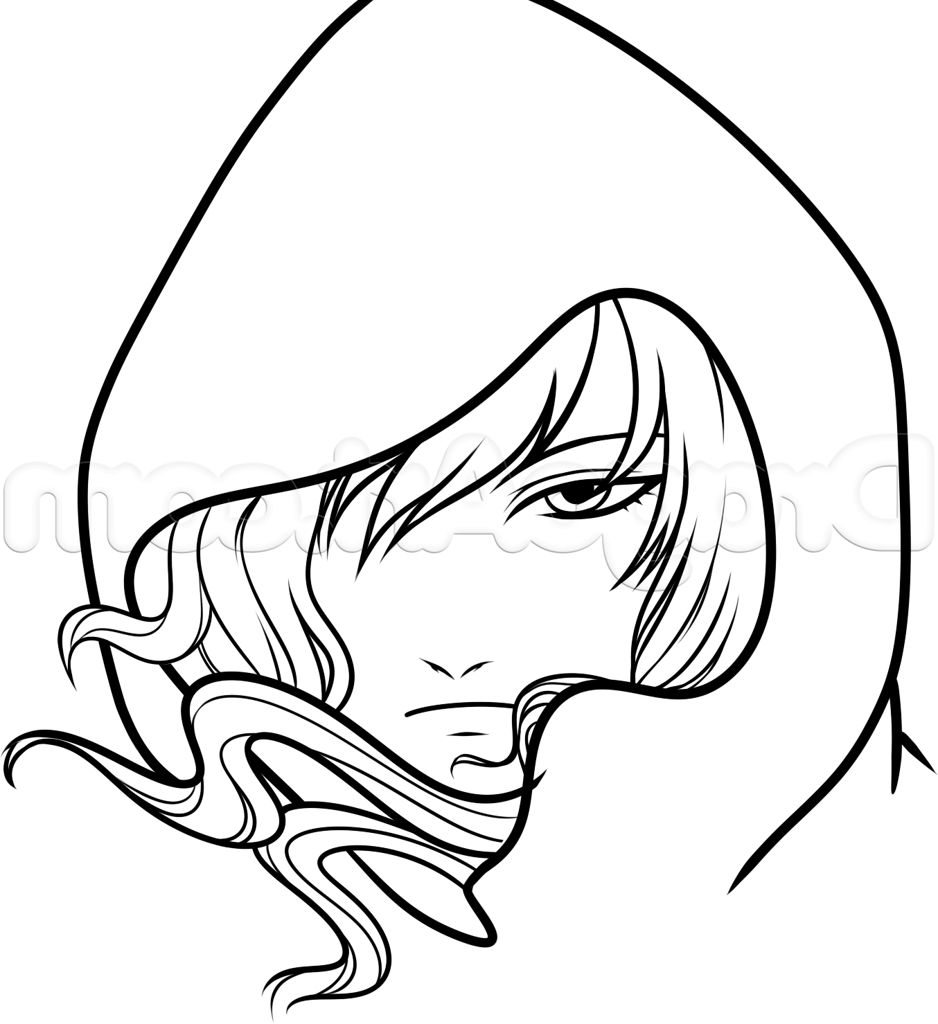 1354x1479 Simple Way To Create A Draw Anime Characters How To Draw A Hooded