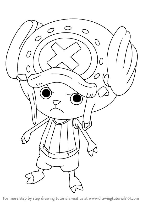 598x844 Step By Step How To Draw Tony Tony Chopper From One Piece