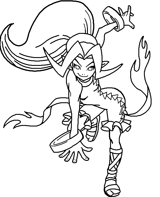 548x676 Anime Vampire Coloring Pages