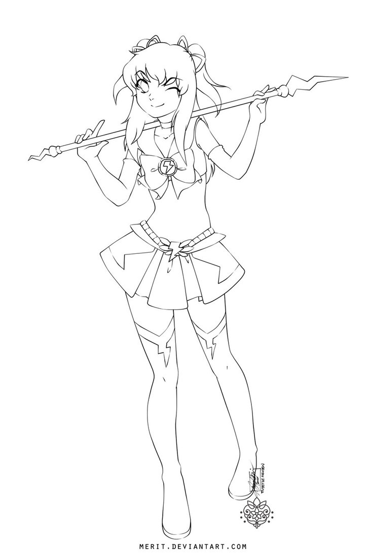 anime girl with swords coloring pages | Anime Warrior Girl Drawing at GetDrawings.com | Free for ...