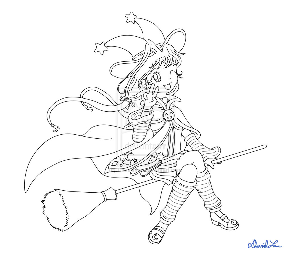 1024x901 Anime Witch Drawing Anime Witch Coloring Pages Anime Witch