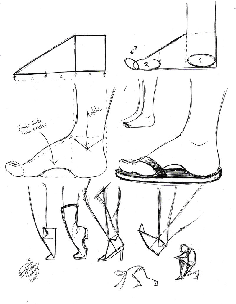 800x1027 Draw Feet 1 By ~diana Huang On Hand And Feet Art