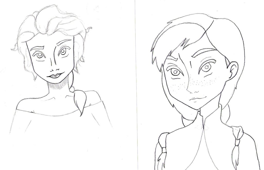 1024x663 Elsa And Anna Drawings By Royal Tarts