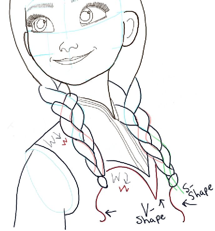 688x739 How To Draw Princess Anna From Frozen Step By Step Tutorial