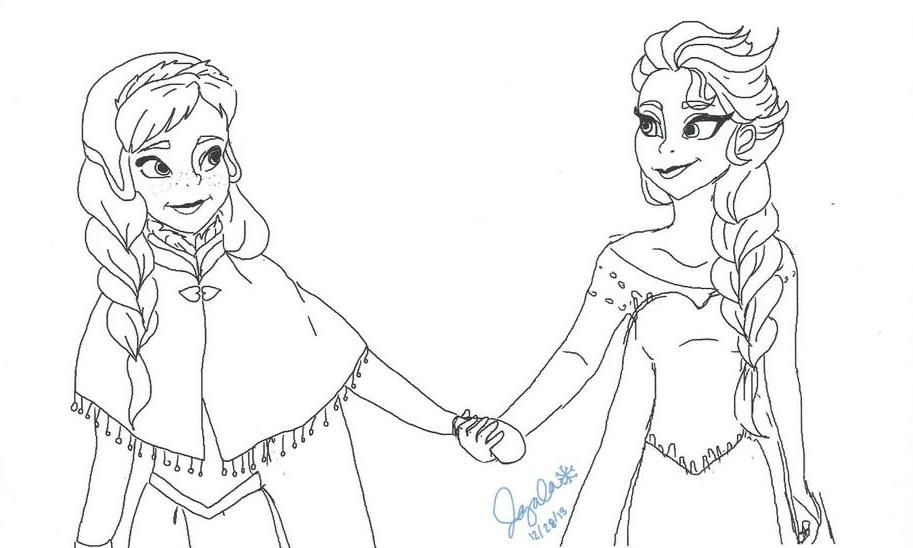 913x548 Anna And Elsa By Jas97luv
