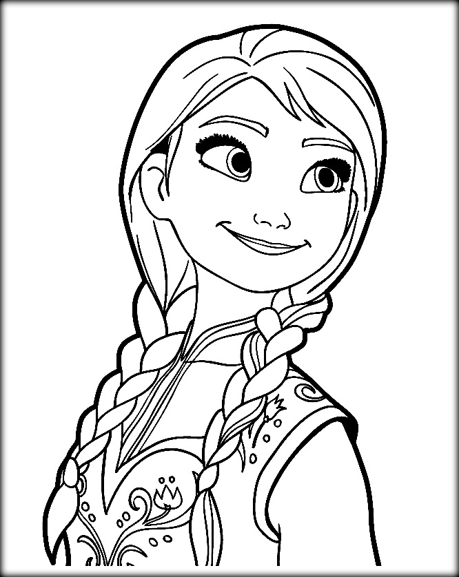 666x838 Frozen Coloring Pages Anna In Fancy Draw To Sweet Print