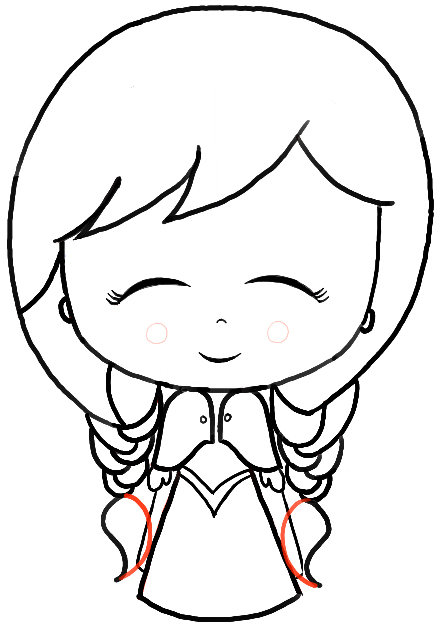 440x627 How Draw A Chibi Baby Anna From Frozen With Easy Steps How