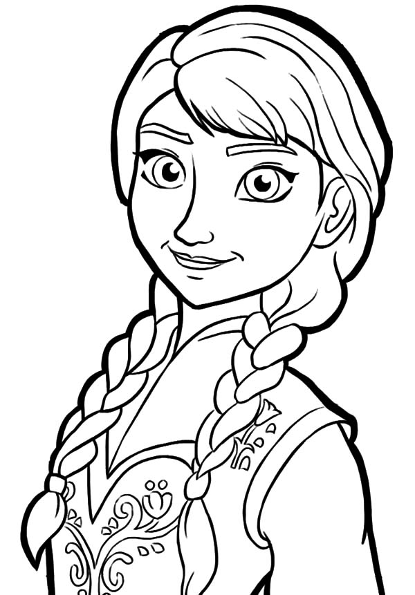 600x861 Queen Elsa Only Sister Princess Anna Coloring Pages Clipart