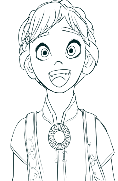 375x577 Wip Frozen Fever Anna By Annadahl