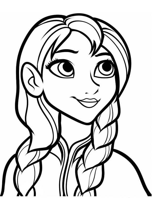 600x778 Charming Anna Coloring Pages 86 Additional Line Drawings