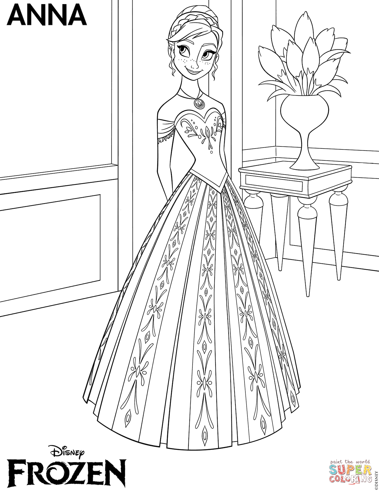 1275x1650 Frozen Anna Coloring Page Free Printable Coloring Pages