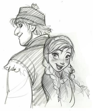 380x453 Frozen Images Anna And Kristoff Sketches Wallpaper And Background