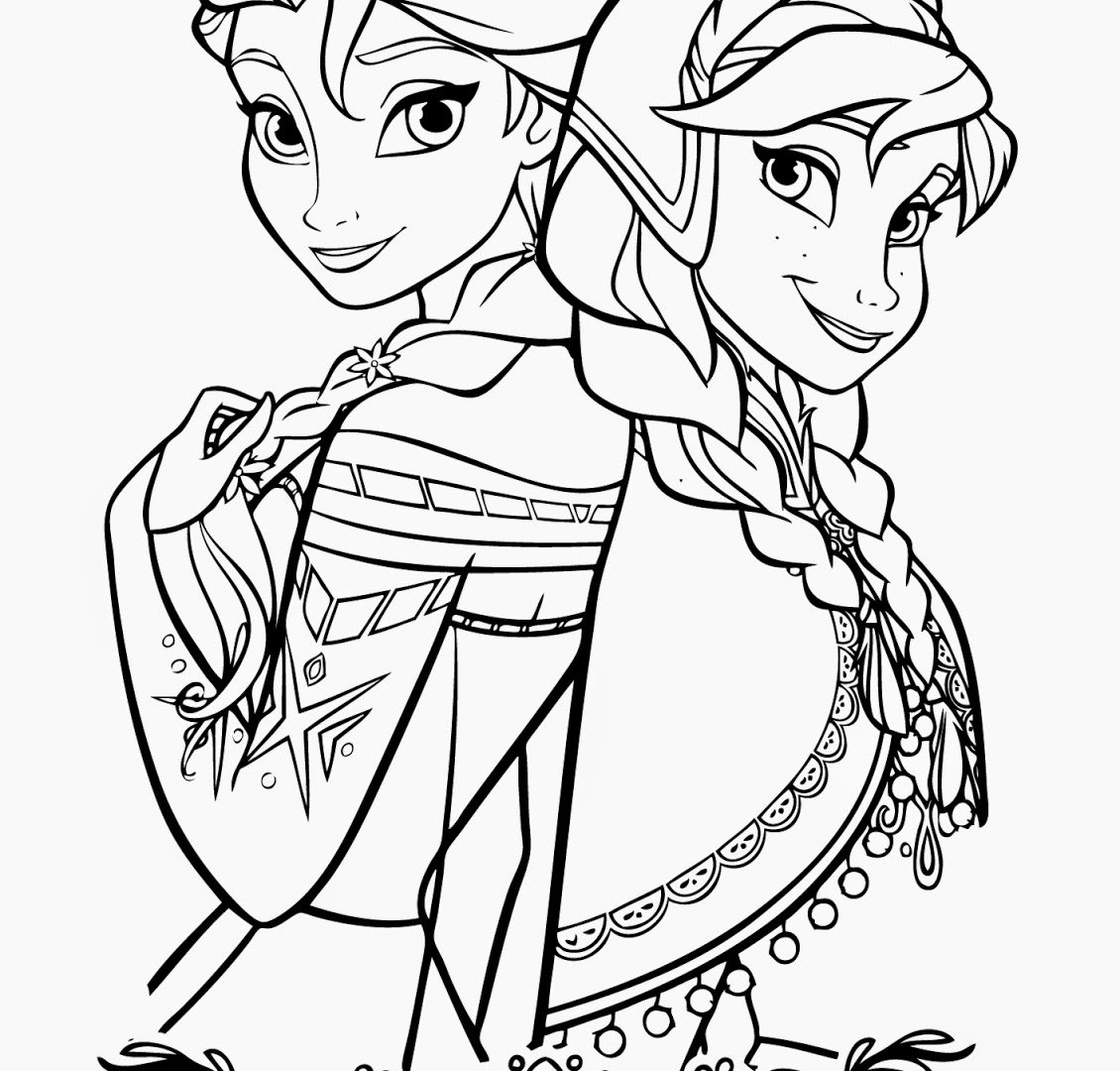 1130x1080 The Frozen Coloring Pages Disney Elsa And Anna Cartoons Olaf