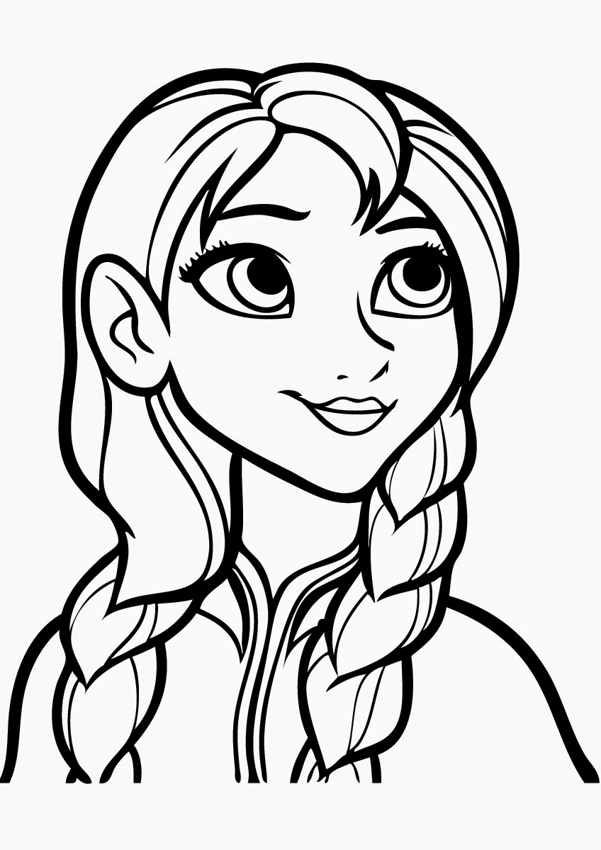 848x1200 Beautiful Anna Free Coloring Page Disney, Frozen, Kids Coloring