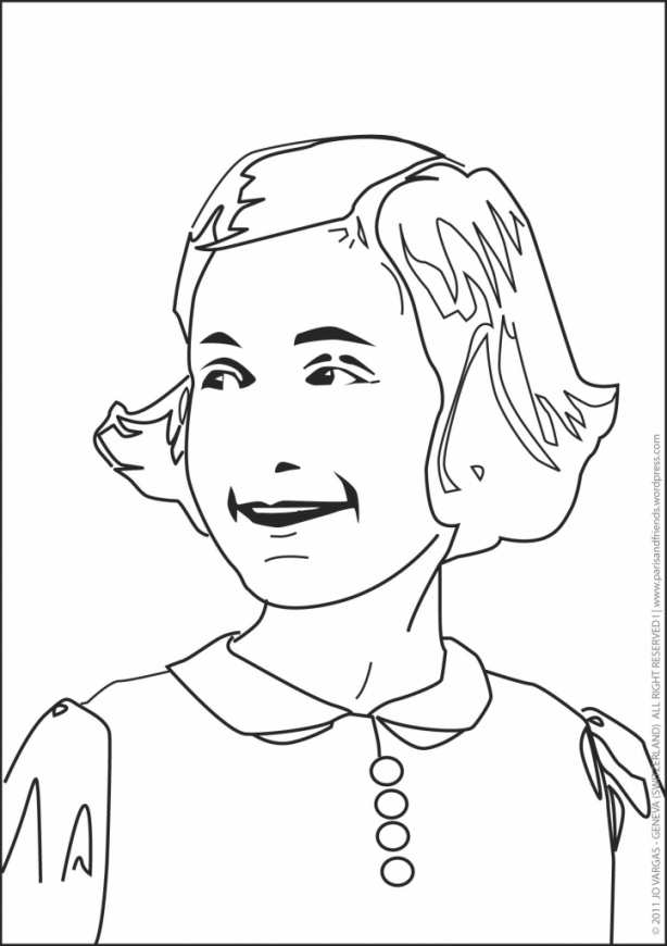614x870 Anne Frank Coloring Pages Lisa To Download