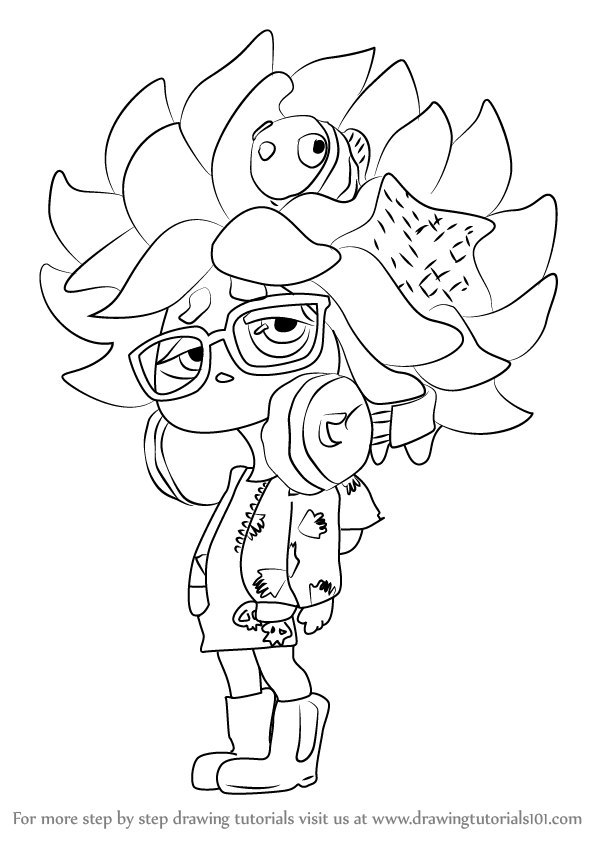 598x844 Learn How To Draw Annie From Splatoon (Splatoon) Step By Step