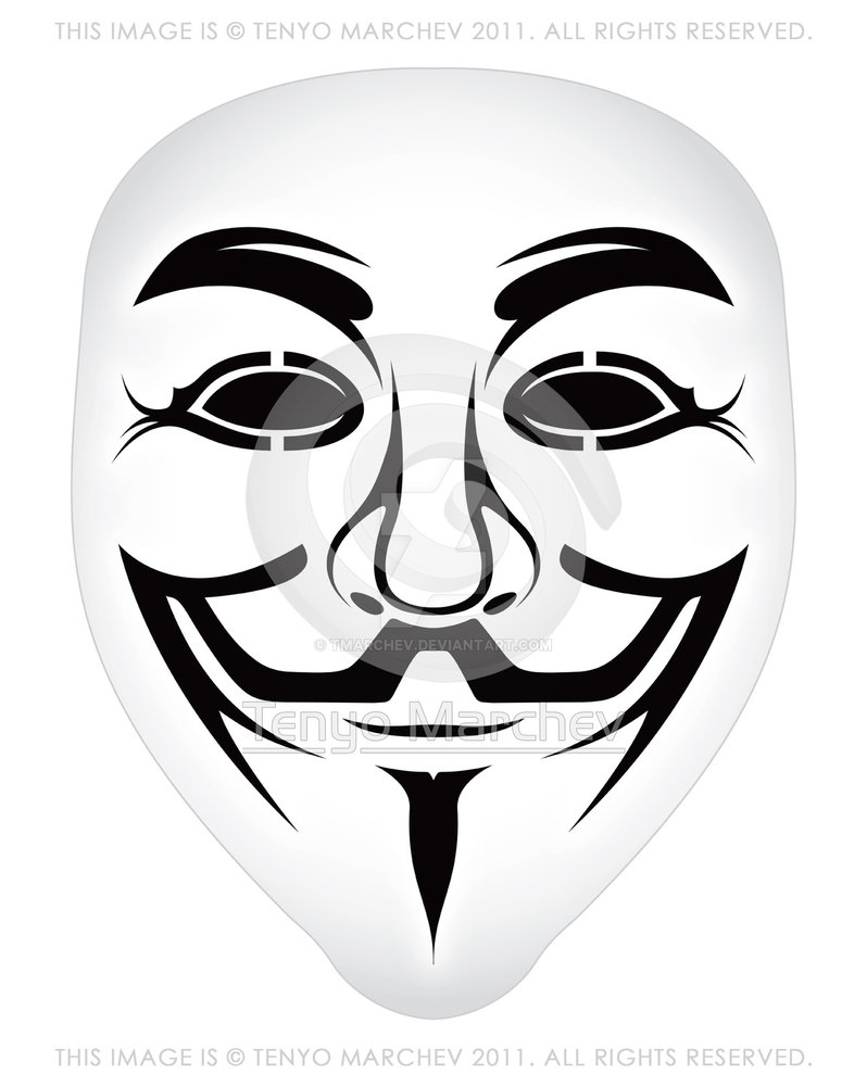 798x1001 Anonymous Vector Mask By Tmarchev By Tmarchev