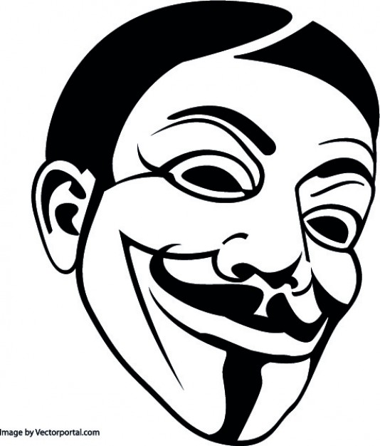 534x626 Anonymous Mask Vector Free Download