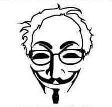 223x213 Bernie Sanders Anonymous Mask Presidential Feel The Bern Decal