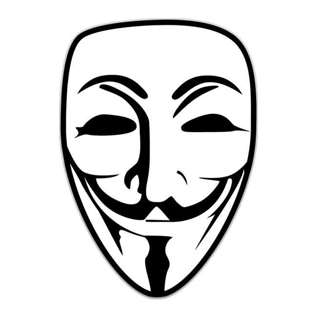 650x650 Guy Fawkes Mask Logo Shaped Sticker Unixstickers