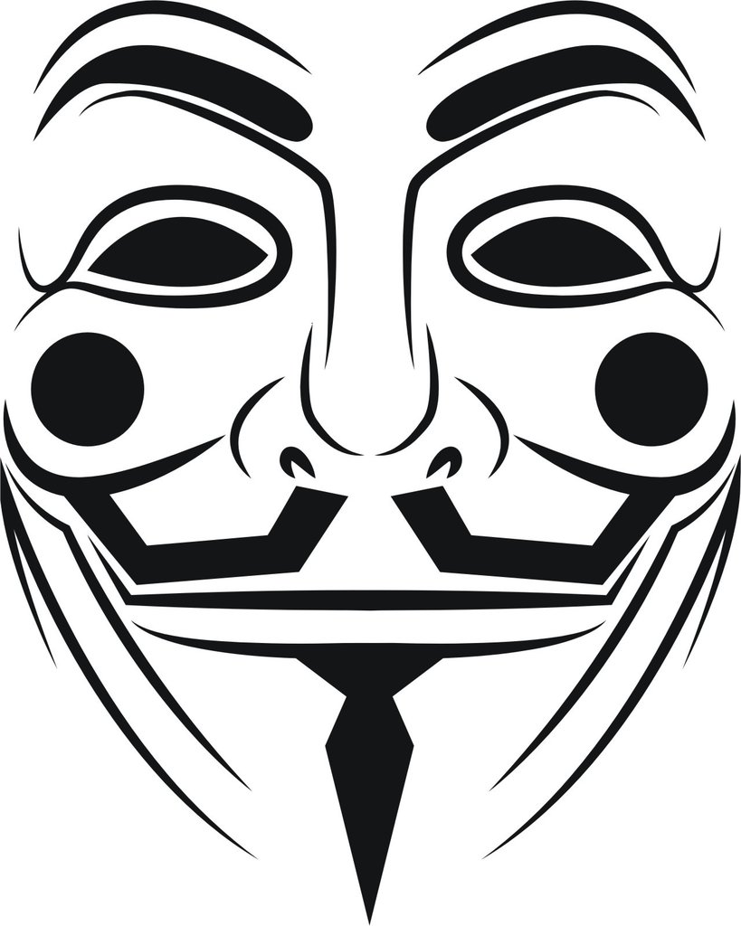 V For Vendetta Mask Drawing Anonymous Mask ...