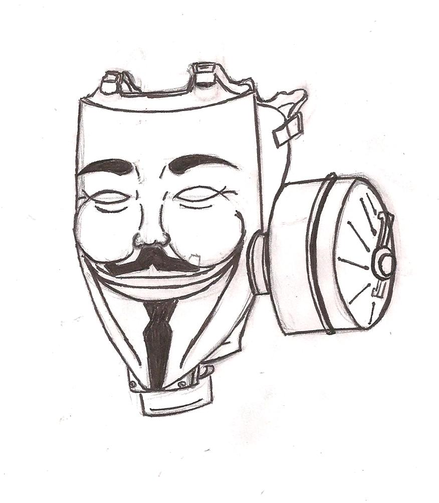 876x1004 Vendetta Guy Fox Gas Mask By Chaosangel424