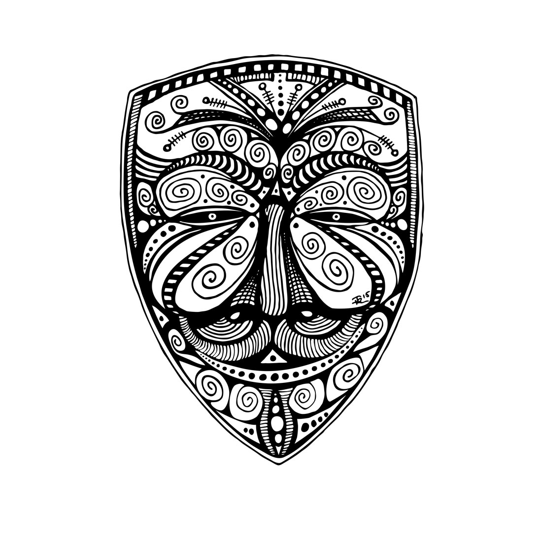1100x1100 Jmervz Inkworks Pen Amp Ink Ornate Anonymous Mask