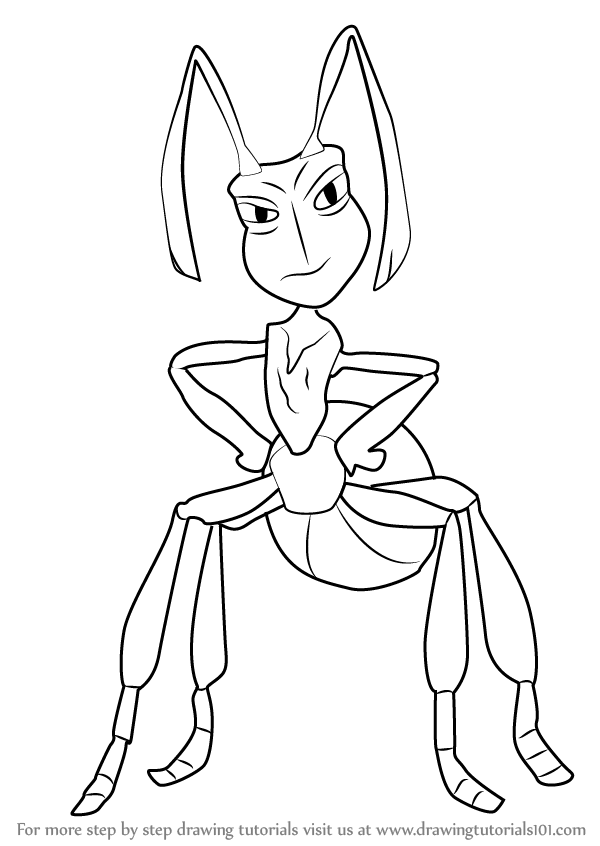 600x846 Learn How To Draw Kreela From The Ant Bully (The Ant Bully) Step